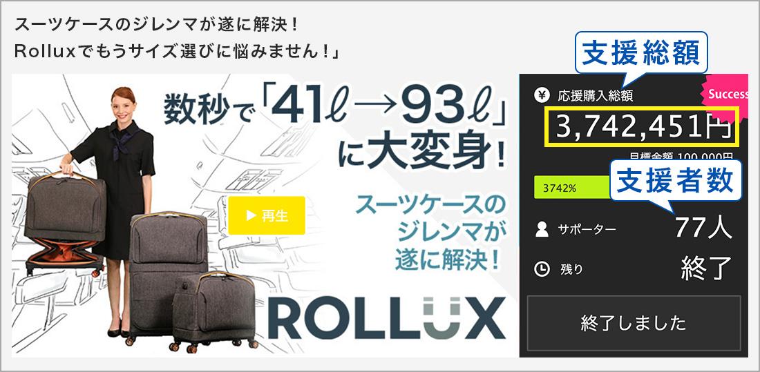 スーツケースのジレンマが遂に解決!Rolluxでもうサイズ選びに悩みません!」