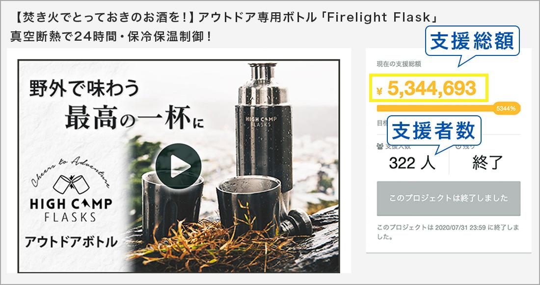 【焚き火でとっておきのお酒を!】アウトドア専用ボトル「Firelight Flask」真空断熱で24時間・保冷保温制御!
