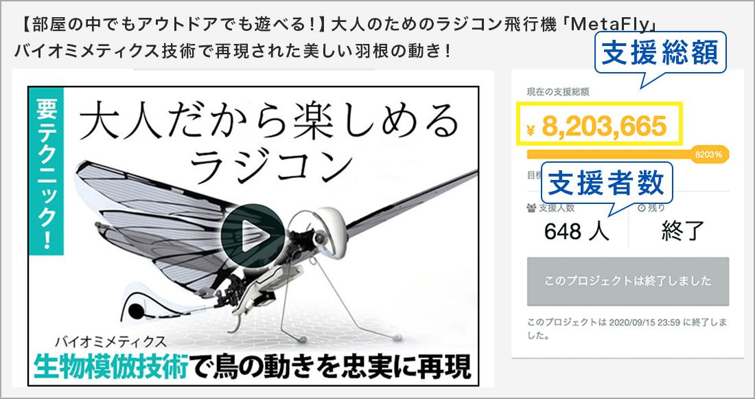 【部屋の中でもアウトドアでも遊べる!】大人のためのラジコン飛行機「MetaFly」バイオミメティクス技術で再現された美しい羽根の動き!まるで本物の鳥を操るような感覚!